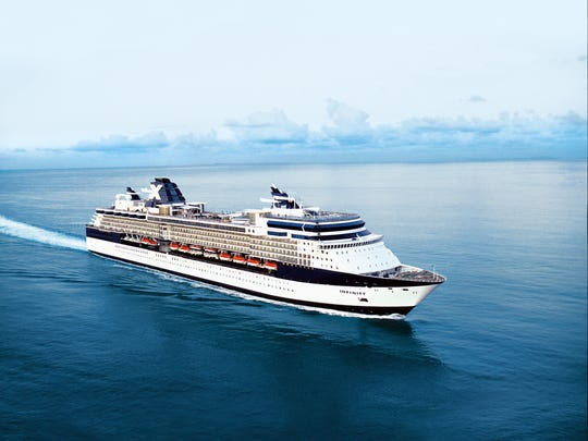 A Celebrity Infinity cruise sets sail at sunset. The ship will host the Ultimate Disco Cruise.