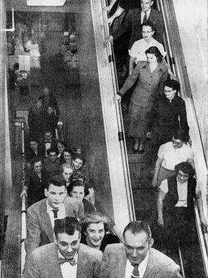 JCPenney's escalator debuted in 1953, after a remodel of the store's location on South Phillips Avenue.