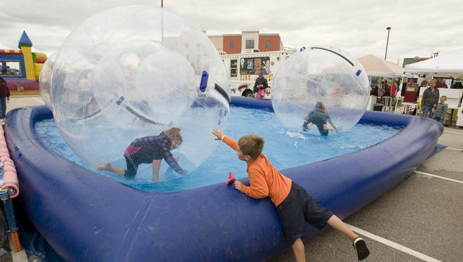 Kids enjoy one of many activities during Miesfeld?s Lakeshore Weekend.