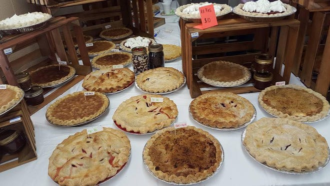 Pies on display at last year's Muncie Makers Market. Directed by Moth Danner, the market is open spring-fall and she would like to open in April  this year.