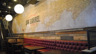 The design of the new Oak Barrel Public House, 1033 N. Old World 3rd St., includes exposed Cream City brick.