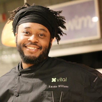 Chef Kwame Williams of Vital Dining, one of 15 chefs