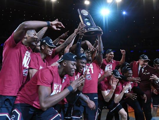 South Carolina celebrates after beating Florida final