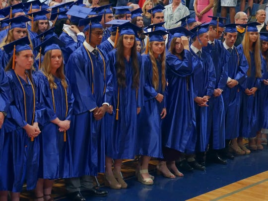 Our Lady of Lourdes High School class of 2018 waits