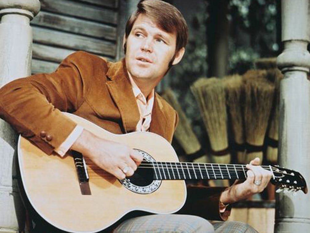 Glen Campbell vinyl decal sticker witchita rhinestone country legend