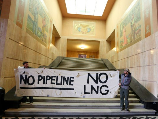 LNG Protest