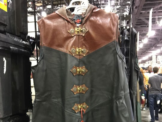 Leather Knight's Coat for $550 from Crimson Chain Leatherworks at the Exhibitor Hall of Phoenix Comic Fest, Thursday, May 24, 2018.