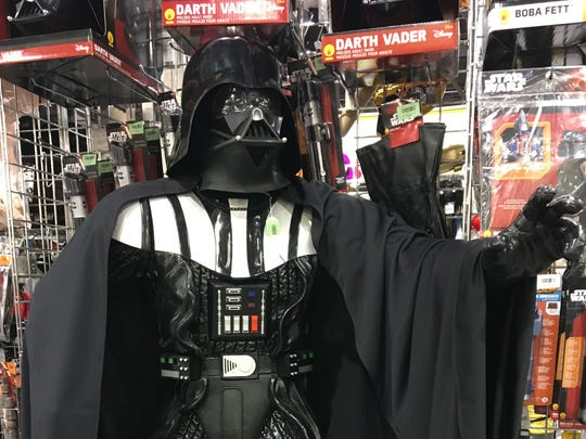 Darth Vader prop for $1,800 from Easley's Costumes Rentals and Sales at Phoenix Comic Fest, Thursday, May 24, 2018.