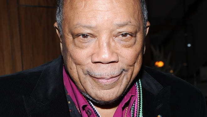 Quincy Jones produced charity single 'We Are the World' and Michael Jackson's 'Off the Wall,' 'Thriller' and 'Bad.'