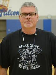 Jim Donmoyer, head coach of the Cedar Crest girls' basketball team