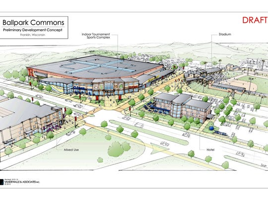 Ballpark Commons would be a mixed-use development that