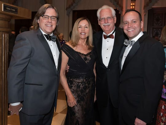 Jay Johnson, at left, Roseanne and Dennis Williams