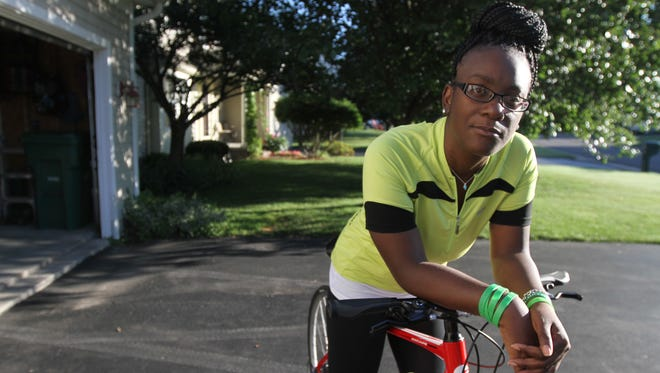 Aisha O'Mally, 35, of Fairport, who this year is celebrating 10 years since her heart transplant, is heading to Houston, Texas, for the Transplant Games of America, where she plans on entering the cycling competition.