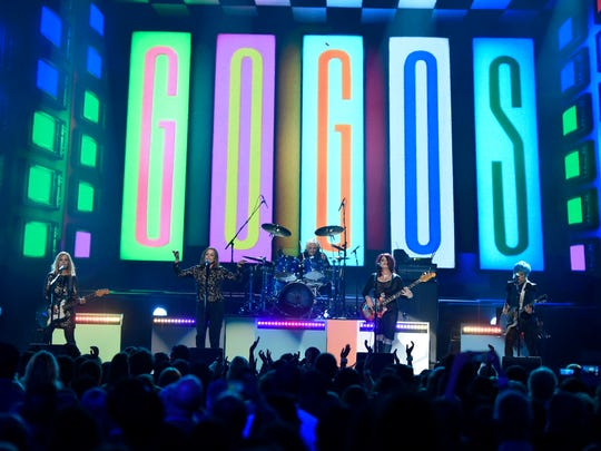 "The Go Go's perform ""We Got The Beat"" at the Billboard Music Awards in 2016."