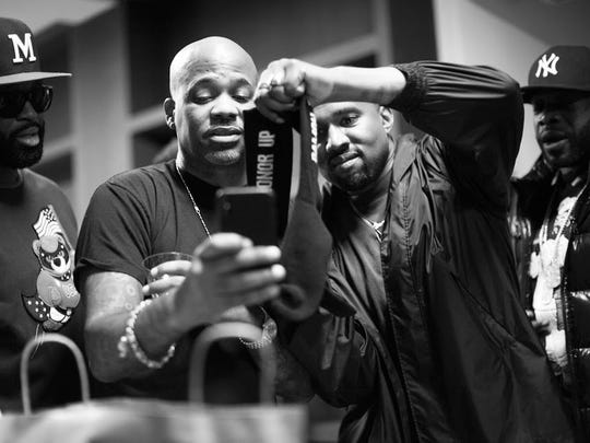 Kanye West and Dame Dash