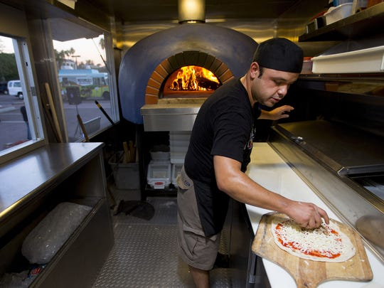 Robert Gall and his wife Jessie, launched their food truck, Focoso Wood Fired Pizza, in 2014.
