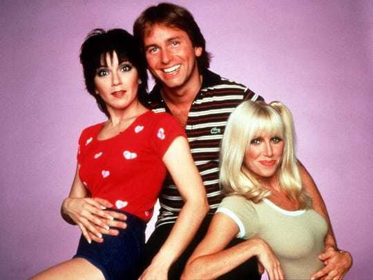 "The cast of the 1970s sitcom ""Three's Company""  from"