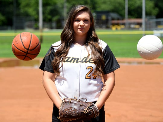 All-West Tennessee Girls' Athlete of the Year, Camden's