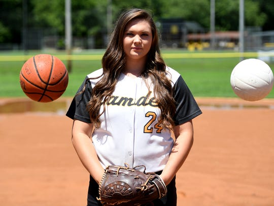 All-West Tennessee Girls' Athlete of the Year, Camden's Brittney Minor