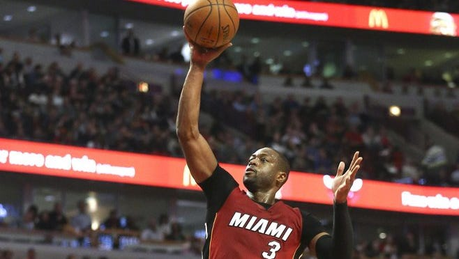 Dwyane Wade has played his entire NBA career with the Miami Heat.