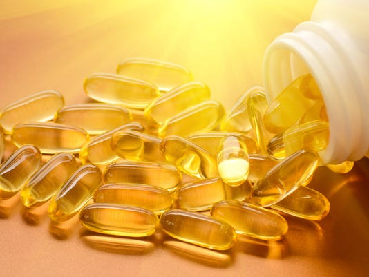 Fish oil and vitamin D softgels