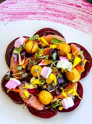 Beets and Goat Cheese from Brickyard Downtown in Chandler.