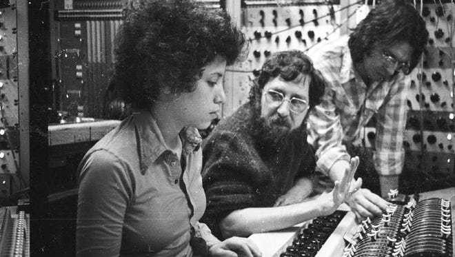 Janis Ian, Brooks Arthur and Larry Alexander during a mid-1970s recording session in the 914 Sound Studios in Blauvelt.