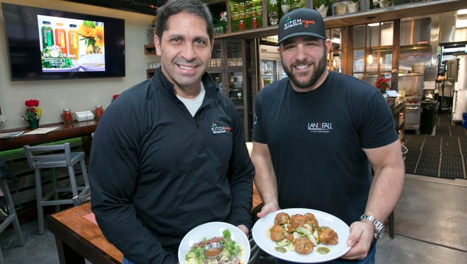 Red Bank's Kitch Organic restaurant  owners Rick Ivone Jr. (left) and Joe Durso.