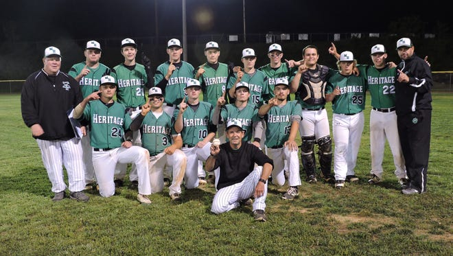 Mountain Hertaige's baseball team clinched at least a share of the Western Highlands Conference championship on Wednesday night in Marshall.
