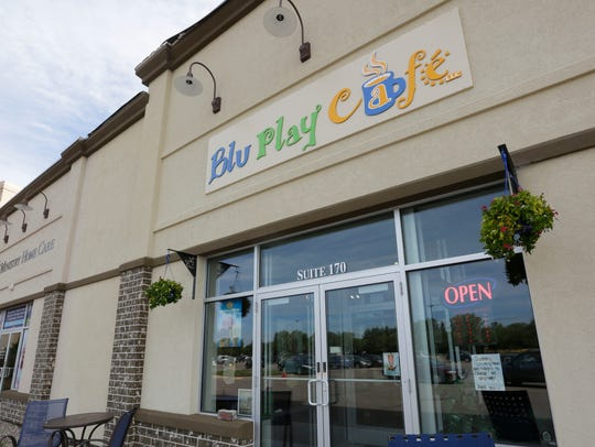 The exterior of the Blu Play Cafe in Wisconsin Rapids,