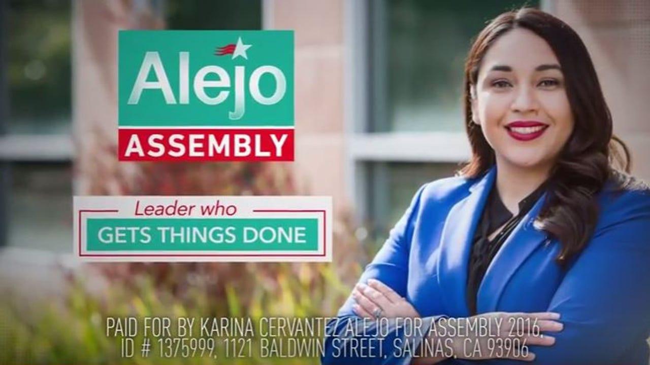 Assembly 30 district candidate Karina Cervantez Alejo