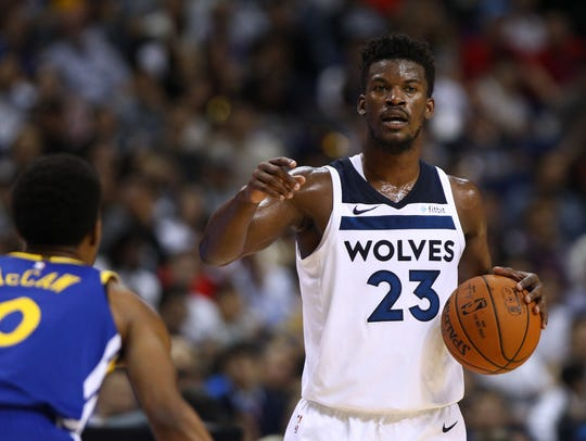 Jimmy Butler will give the Timberwolves a veteran influence.