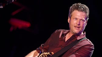 Blake Shelton performs at the 2016 CMA Music Festival in Nashville in June 2016. Shelton, Keith Urban, Dierks Bentley and Toby Keith will honor Glen Campbell at the ACM Honors on Aug. 30, 2016. The show will air in September on CBS.