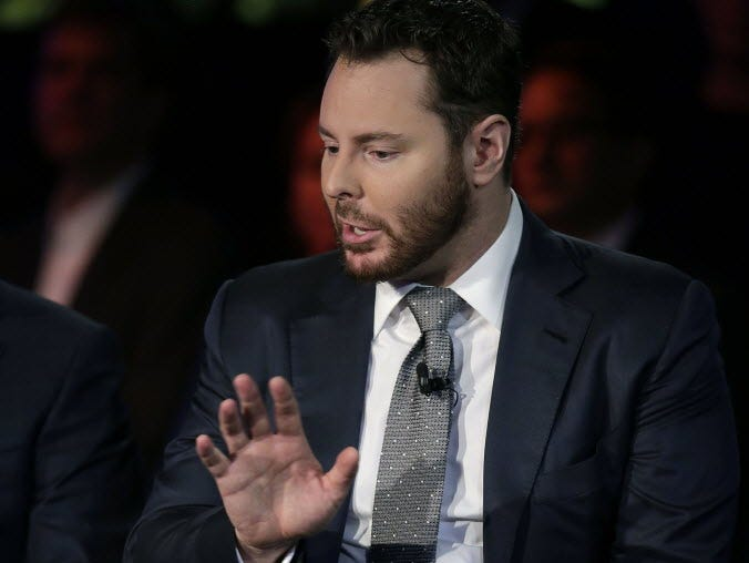 Sean Parker speaks during the Clinton Global Initiative annual meeting September 29, 2015