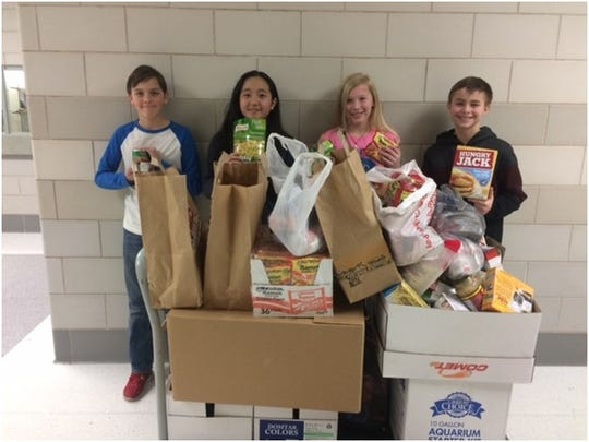 Horace Mann Middle School's Team 6-1 collected more than 400 items for the Neighbors' Place.