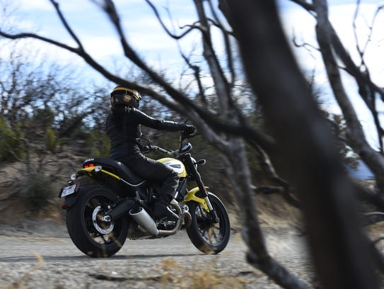 The Scrambler is easy to ride for smaller riders, but