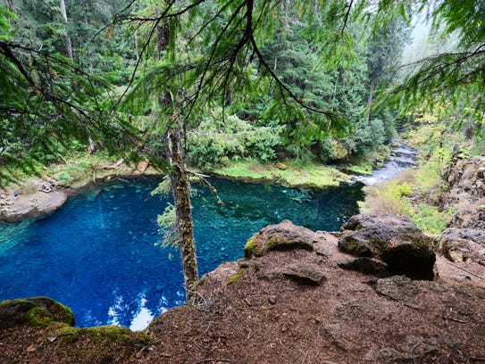 Tamolitch Pool, also known as the Blue Pool, is where