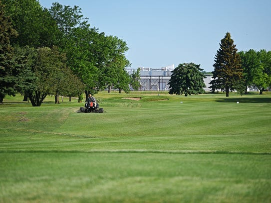 Elmwood Golf Course's first hole Wednesday, June 14,
