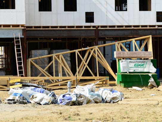 Construction continues in June at the Landings at Terra