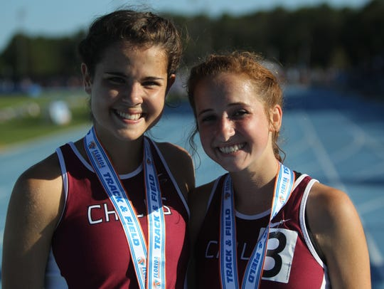 Chiles' Ana Wallace and Emily Culley took third and