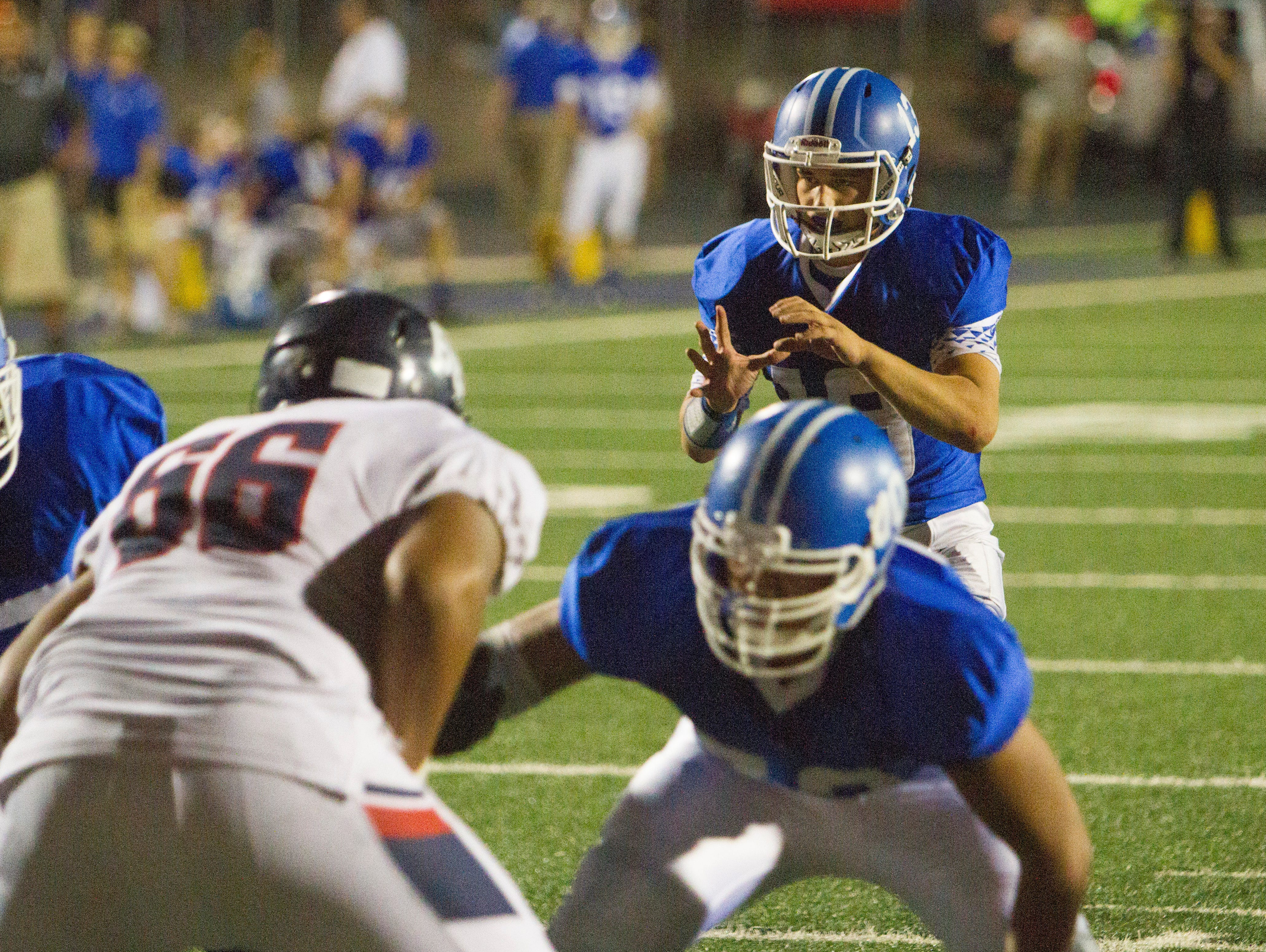 Dixie High School football suffers a 37-21 loss to Stansbury High Friday, August 19, 2016.