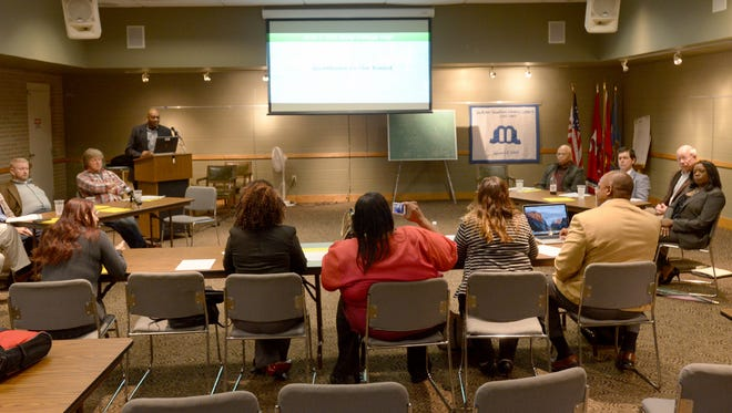 The I Am JCM Coalition held a public meeting with Jackson-Madison County School Board members to discuss Vision 2020 on Monday.