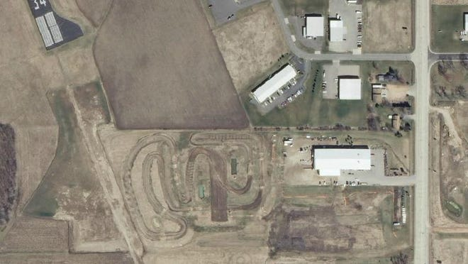 Power Pac, 3802 S. Central Ave., built a dirt race track near the Marshfield Municipal Airport, as this 2010 aerial image shows.