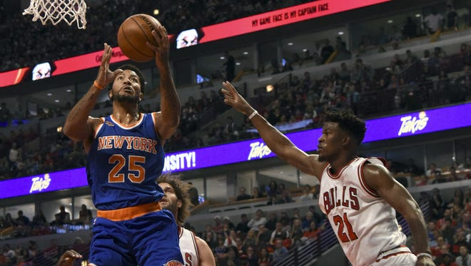 Derrick Rose played his first career game at the United Center as a visitor.