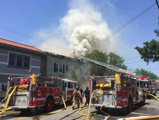 Cincinnati fire units respond to the Pleasant Ridge