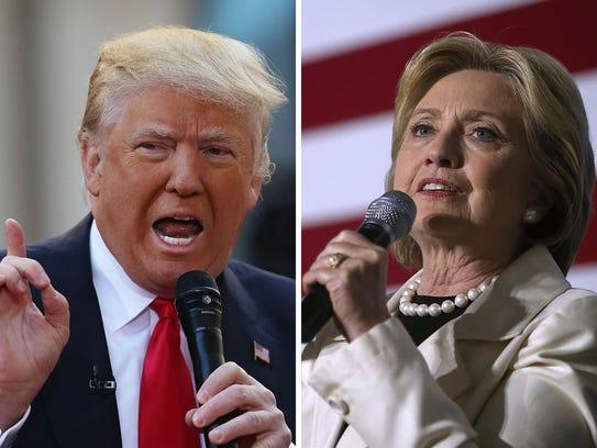 Donald Trump and Hillary Clinton's high-profile race