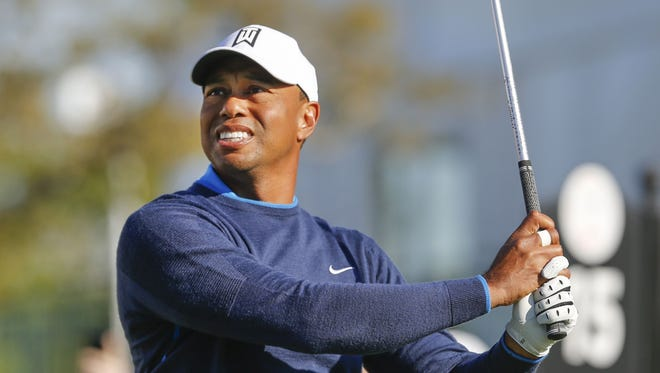 Tiger Woods hits his tee shot on the 15th hole during the first round of the Arnold Palmer Invitational golf tournament at Bay Hill Club & Lodge on March 15.