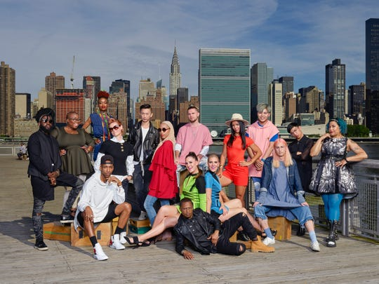 """Project Runway"" Season 16 contestants pose together in a promotional shot for the show, which will premiere at 8 p.m. Thursday, Aug. 17, on Lifetime."