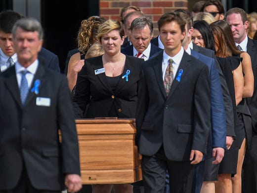 The Casket Of Otto Warmbier Is Carried From Wyoming