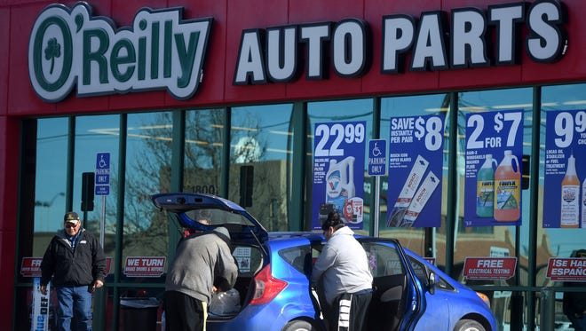 The O'Reilly Auto Parts locatoin on North Butler Avenue in Farmington is pictured on Saturday. The company could be adding a location in Aztec soon.